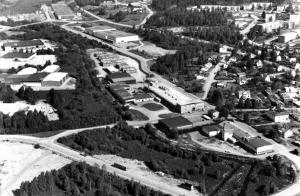 Flygbild över Kimarp tagen mot Stoeryd