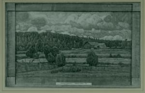Herman Norrman tavlan finns på Nationalmuseum Kimarps ladugård som revs 1923, låg ungefär där Tranås Skolmöbler har sitt kontor idag.