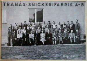 Tranås Snickerifabrik AB Personal 1954