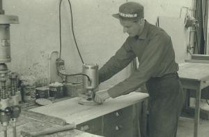Efterputsning kvistborrning Bernt Karlsson 1964