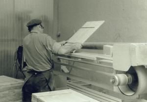 Putsmaskin Josef Tingåker 1964