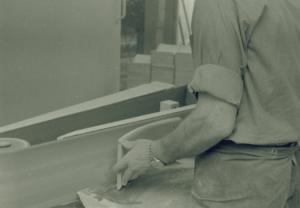 10 Putsning av ryggbricka baksida Josef Tingåker 1964