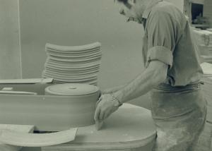 Putsning av ryggbricka framsida Josef Tingåker1964