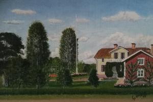 Tavla målad av G.Anselm 1934 över Kimarps gård