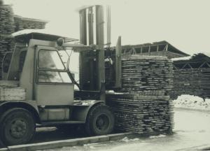 4 Lastning av björkplank 1965