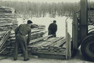 Ströläggning bröderna Evert och Ingvar Göransson 1965