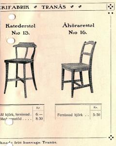Kateder och åhörarstol