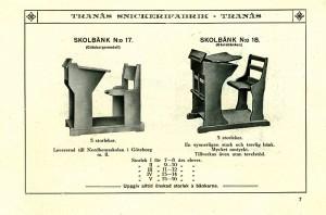 107 Skolbänk 17 (Göteborgsmodell) och 18 (Gävlebänken)