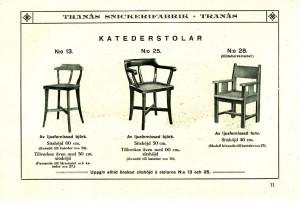 111 Katederstolar nr 13, 25 oc 28 (Göteborgsmodell)