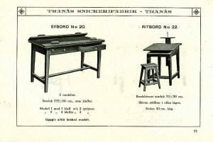 113 Sybord nr 20 och ritbord nr 22