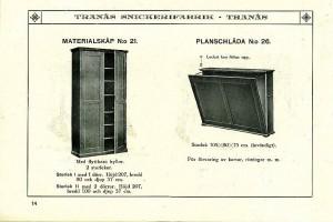 114 Materialskåp nr 21 och planschlåda nr26