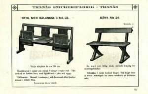 115 Stol med balanssits nr 23 och bänk nr 24