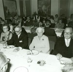 Från festmiddagen på Tranås  stadshotell, vid honnörsbordet Elis Kågén